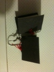 earrings balck with red