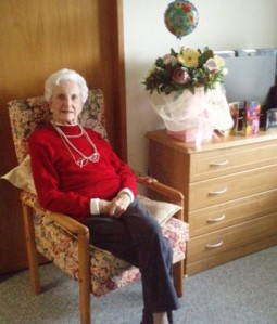 Neva Clarke McKenna on her 90th birthday at Tamahere Eventide