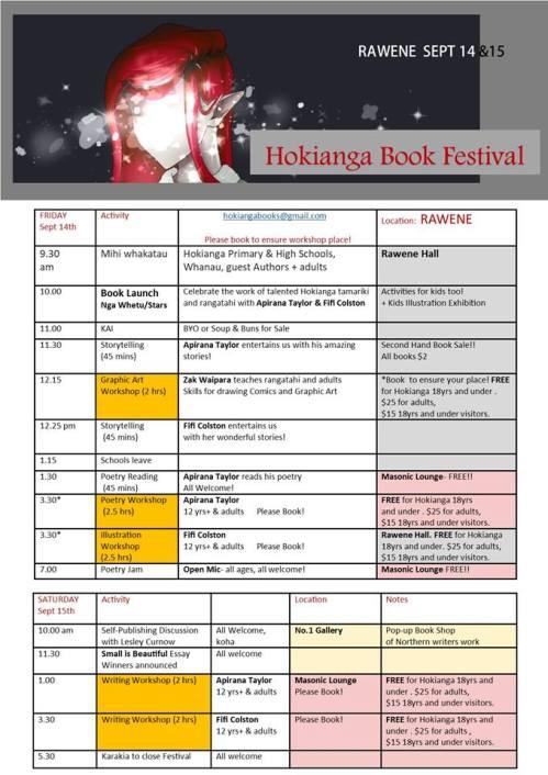 Timetable Hokianga Festival New